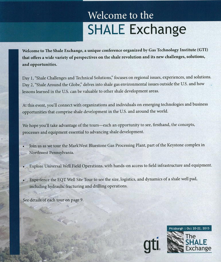Shales Exchange 2015 Program